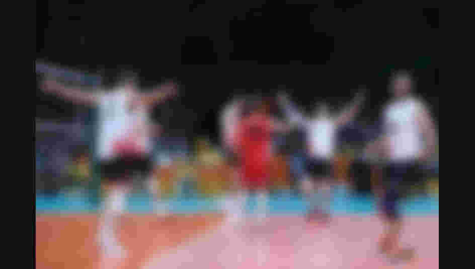 Players of Canada celebrate the victory after the Men's Preliminary Pool A match between the United States and Canada on Day 2 of the Rio de Janeiro Olympic Games.