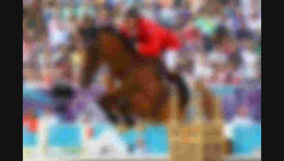 London 2012 : Ian Millar of Canada riding Star Power competes in the Individual Jumping Equestrian. This was his 10th and last summer Olympic participation, a record that still hold.