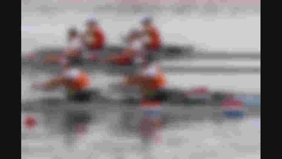 Ilse Paulis (R) and Maaike Head (L) of the Netherlands compete in the Lightweight Women's Double Sculls Final A on Day 7 of the Rio 2016 Olympic Games.