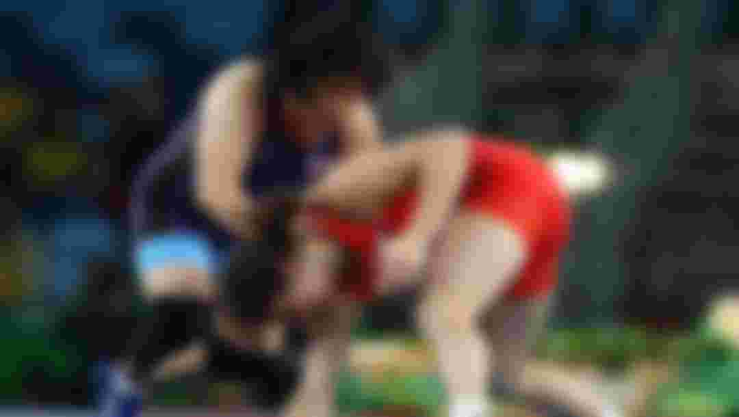 Natalia Vorobeva of Russia (red) competes against Sara Dosho of Japan during the Women's Freestyle 69kg Gold Medal bout at the Rio 2016 Olympic Games