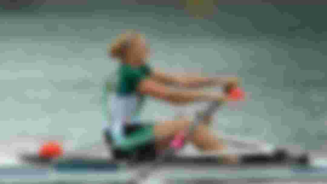 Sanita Puspure of Ireland competes in the Women's Single Sculls finals at the London 2012 Olympic Games (Photo by Phil Walter/Getty Images)