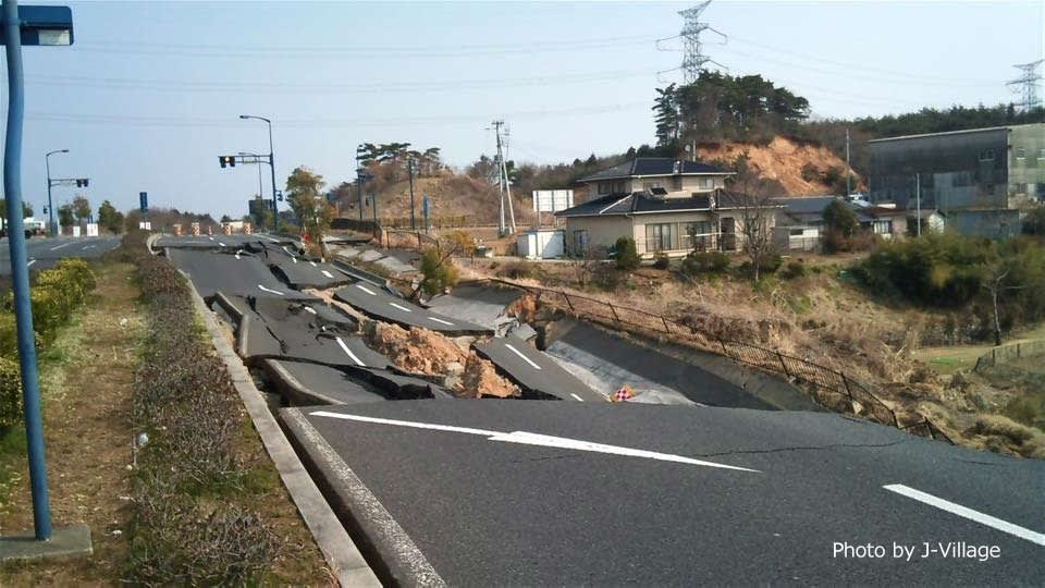 The earthquake severing the roads