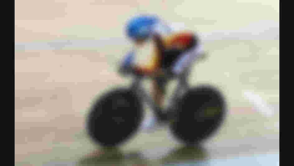 BEIJING - SEPTEMBER 09: Erich Winkler of Germany competes in individual pursuit (LC4) Track Cycling event at Laoshan Velodrome during day three of the 2008 Paralympic Games on September 9, 2008 in Beijing, China  (Photo by Chris Hyde/Getty Images)