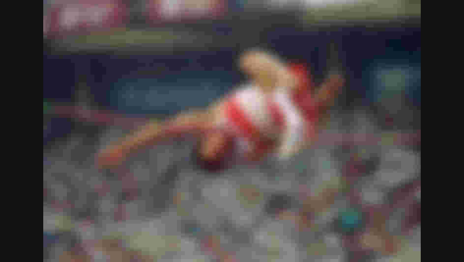 Canadian athlete Arnold Bouldt competing in the high jump event at the 1992 Paralympic Games in Barcelona, September 1992, he won the gold medal. (Photo by Gray Mortimore/Getty Images)