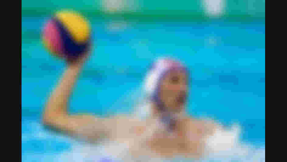 Sandro Sukno #9 of Croatia throws the ball during the Men's Water Polo Gold Medal match between Croatia and Serbia on Day 15 of the Rio 2016 Olympic Games.