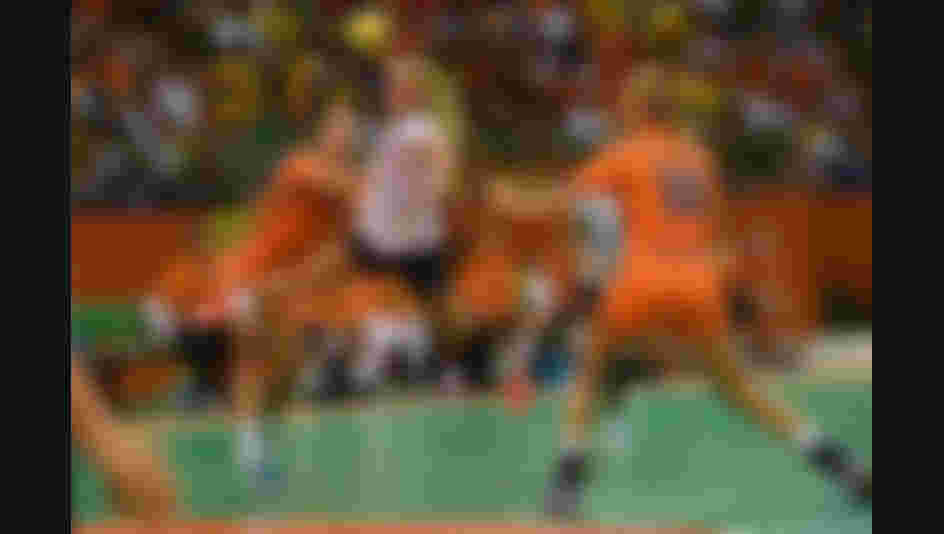 Stine Bredal Oftedal shoots the ball during the Women's Handball Bronze medal match between Netherlands and Norway at Future Arena on Day 15 of the Rio 2016 Olympic Games.