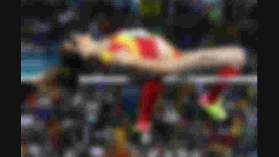 Ruth Beitia of Spain competes during the Women's High Jump Final on Day 15 of the Rio 2016 Olympic Games.