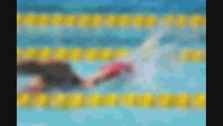 Oktawia Nowacka of Poland competes during the Women's Swimming Modern Pentathlon on Day 14 of the Rio 2016 Olympic Games.