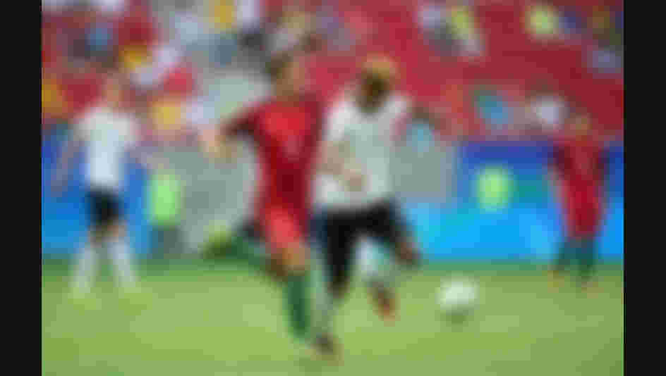 Serge Gnabry #17 of Germany controls the ball against Tomas Martins Podstawski #6 of Portugal in the first half during the Men's Football Quarterfinal match on Day 8 of the Rio 2016 Olympic Games.