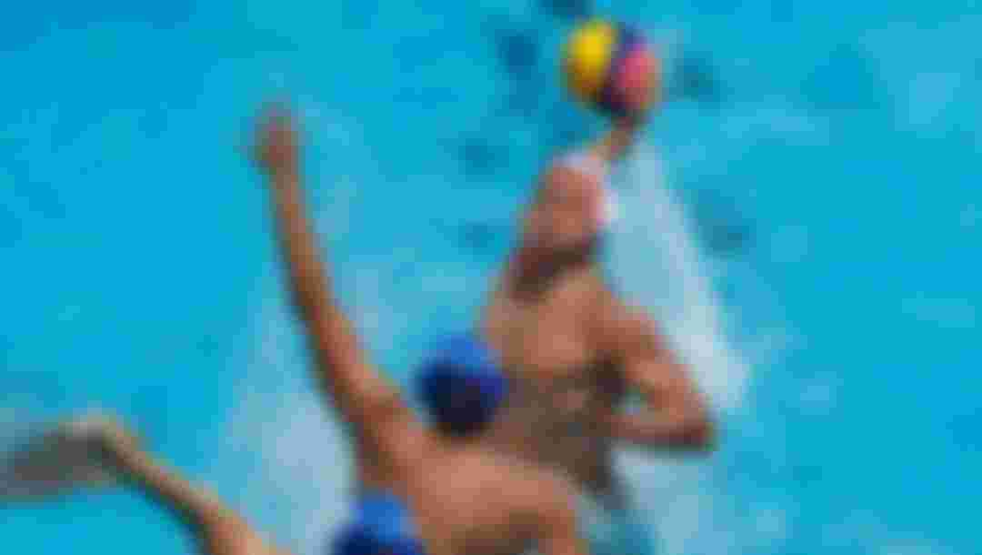 Alberto Munarriz Egana (white) of Spain takes a shot on goal during the Men's Water Polo, Group C preliminary match against Serbia at the Budapest 2017 FINA World Championships (Photo by Adam Pretty/Getty Images)