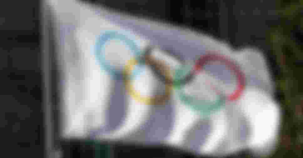 LONDON, ENGLAND - APRIL 06:  The Olympic flag with the iconic Olympic rings is pictured during the IOC Executive Board meetings, held at the Westminster Bridge Park Plaza on April 6, 2011 in London, England.  (Photo by Dean Mouhtaropoulos/Getty Images)
