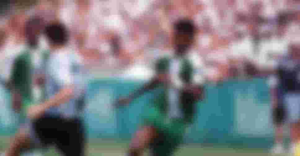 Nwanko Kanu of Nigeria during the final of Atlanta 1996 against Argentina on 3 August 1996.